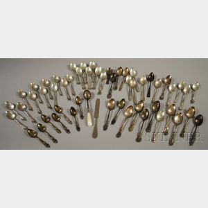 Approximately Fifty Mostly Sterling Silver Spoons