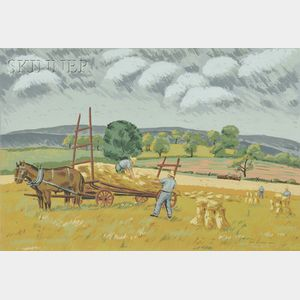 Max Arthur Cohn (American, 1903-1998)      Harvesting.
