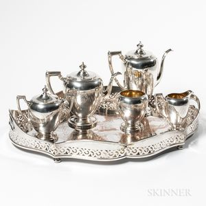 Five-piece Reed & Barton Sterling Silver Tea and Coffee Service