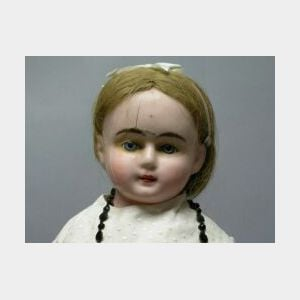 Large Wax-Over-Composition Girl Doll