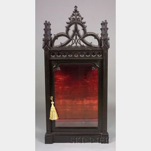 Gothic Revival Ebonized Diminutive Display Cabinet