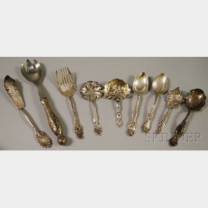 Small Group of Mostly Art Nouveau Sterling Silver Flatware