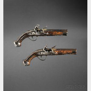 Italian Cased Frachetti e Minelli Flintlock Pistols