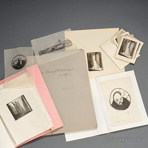 Craig, Edward Gordon (1872-1966) Twenty-six Signed Proofs, 1907-1939 Inscribed to Percy Mackaye.