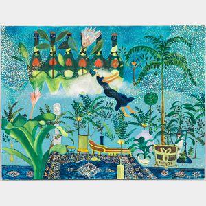 Benson Seto (Hawaiian, 1936-2005)    Whimsical Scene
