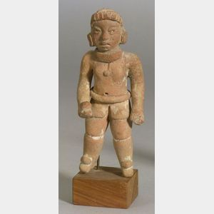 Pre-Columbian Pottery Ball Player