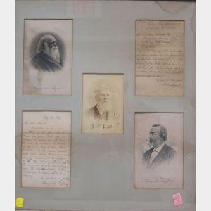 Framed Group of Literary Ephemera