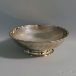 Frank W. Smith Footed Sterling Silver Center Bowl