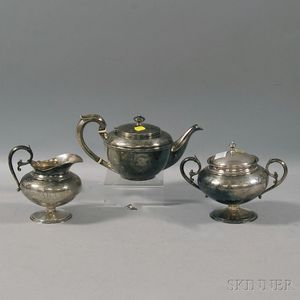 Assembled Three-piece Gorham and Dominick & Haff Tea Set