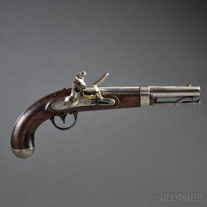 Model 1836 A. Waters Flintlock Pistol