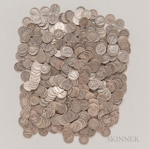 480 Mercury and Roosevelt Dimes.
