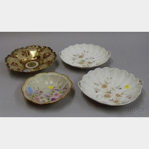 Two Nippon and Pair of Japanese Porcelain Dishes.