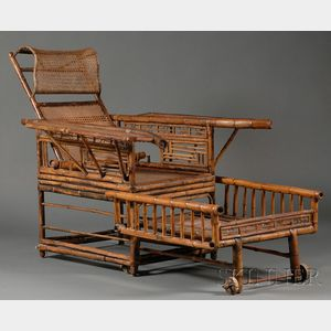 Chinese Adjustable Bamboo Armchair