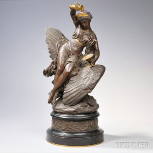 Louis Charles Hippolyte Buhot (French, 1815-1865)      Hebe and Jupiter's Eagle