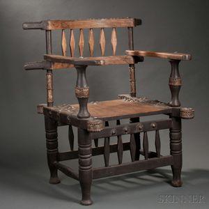 Malinke Wood Chief's Chair