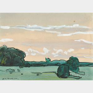 Jane Peterson (American, 1876-1965)      Sunrise, Miami, Florida