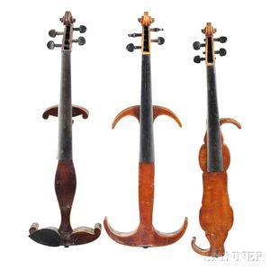 Three Mute (or Practice) Violins