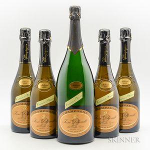 Jose Dhondt Blanc de Blancs Vieilles Vignes, 4 bottles1 magnum