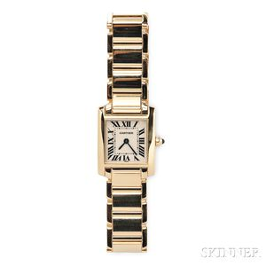 "Lady's 18kt Gold ""Tank Francaise"" Wristwatch, Cartier"