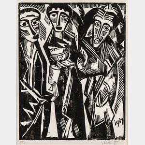 Karl Schmidt-Rottluff (German, 1884-1976)      Die heiligen drei Könige