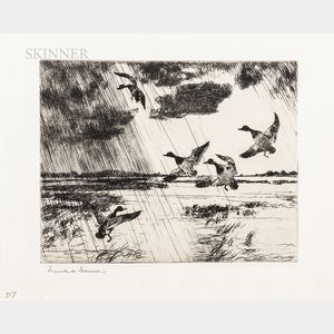Frank Weston Benson (American, 1862-1951)      Rain Squall