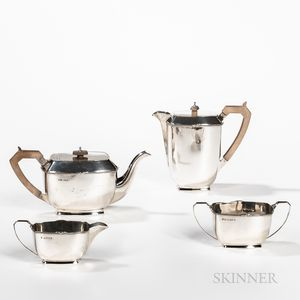 English Four-piece Sterling Silver Coffee and Tea Service
