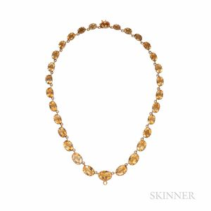 Antique Gold and Citrine Riviere