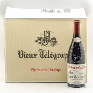 Vieux Telegraphe Chateauneuf du Pape La Crau 2007, 12 bottles (oc)
