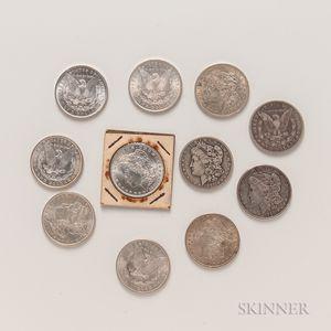 Eleven Morgan Dollars