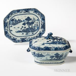 Nanking Export Porcelain Tureen and Undertray