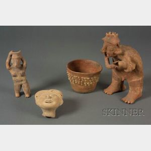 Four Pre-Columbian Pottery Items