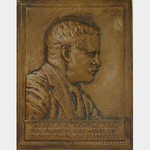 James Earle Fraser (American, 1876-1953)      Portrait of Theodore Roosevelt.