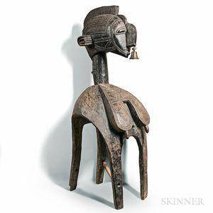 Large Baga-style Carved Nimba Headdress