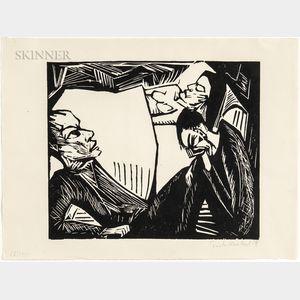 Erich Heckel (German, 1883-1970)      Die Tote