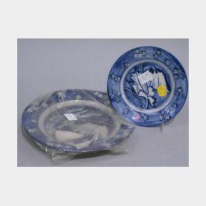 Two Dedham Pottery Poppy Plates