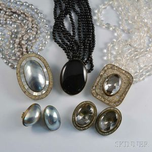 Three Celia Sebiri Multi-strand Necklaces