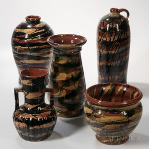 Five Peters & Reed Pottery Pieces