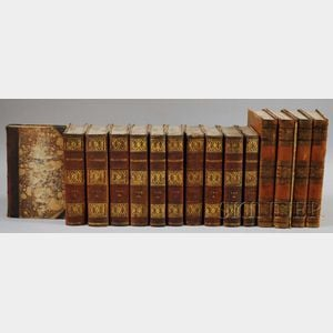 Two Decorative Leather-bound Sets of Books