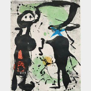 Joan Miró (Spanish, 1893-1983)      Grans Rupestres V