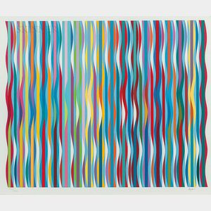 Yaacov (Jacob Gipstein) Agam (Israeli, b. 1928)      Untitled (Waves)