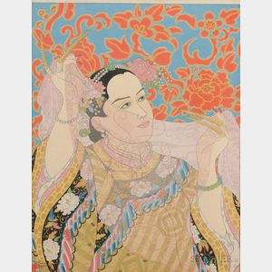 Two Woodblock Prints by Paul Jacoulet
