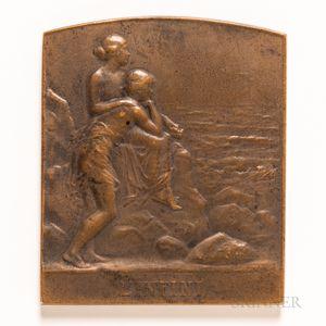 Miniature Bronze Pierre Lenoir Plaque
