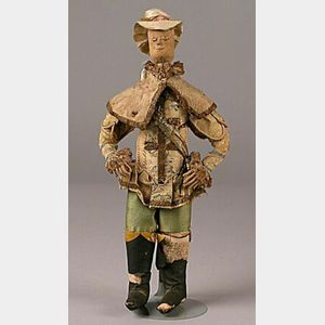 Early Cloth Doll in Fancy Male Attire