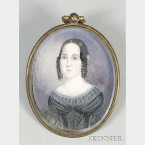 Portrait Miniature of a Young Lady,    c. 1835