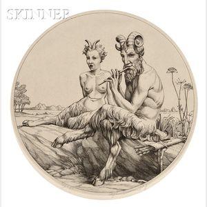 Stephen Gooden (British, 1892-1955)      The Satyrs