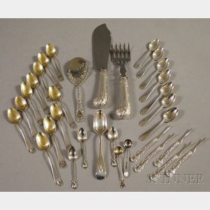Assorted Group of Mostly American Sterling Flatware