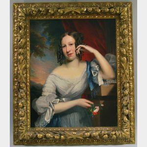 Anglo/American School, 19th Century      Portrait of a Woman with a Nosegay