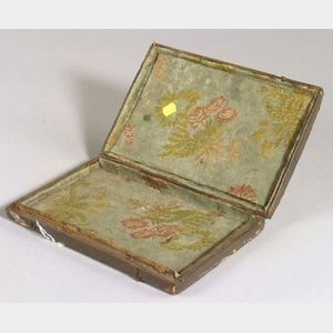 Damask Lined Lacquer Box