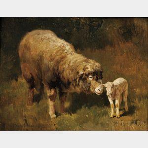 Barbizon School, 19th Century      The Spring Lamb