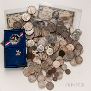 Group of American Coins and Banknotes